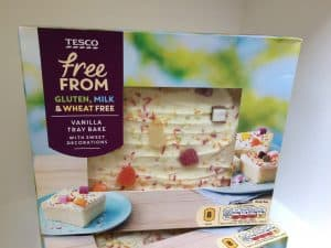 Tesco free from vanilla tray bake