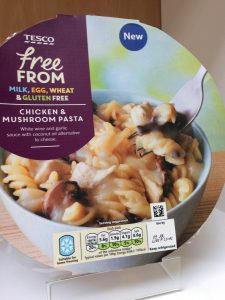 tesco free from chicken & mushroom pasta