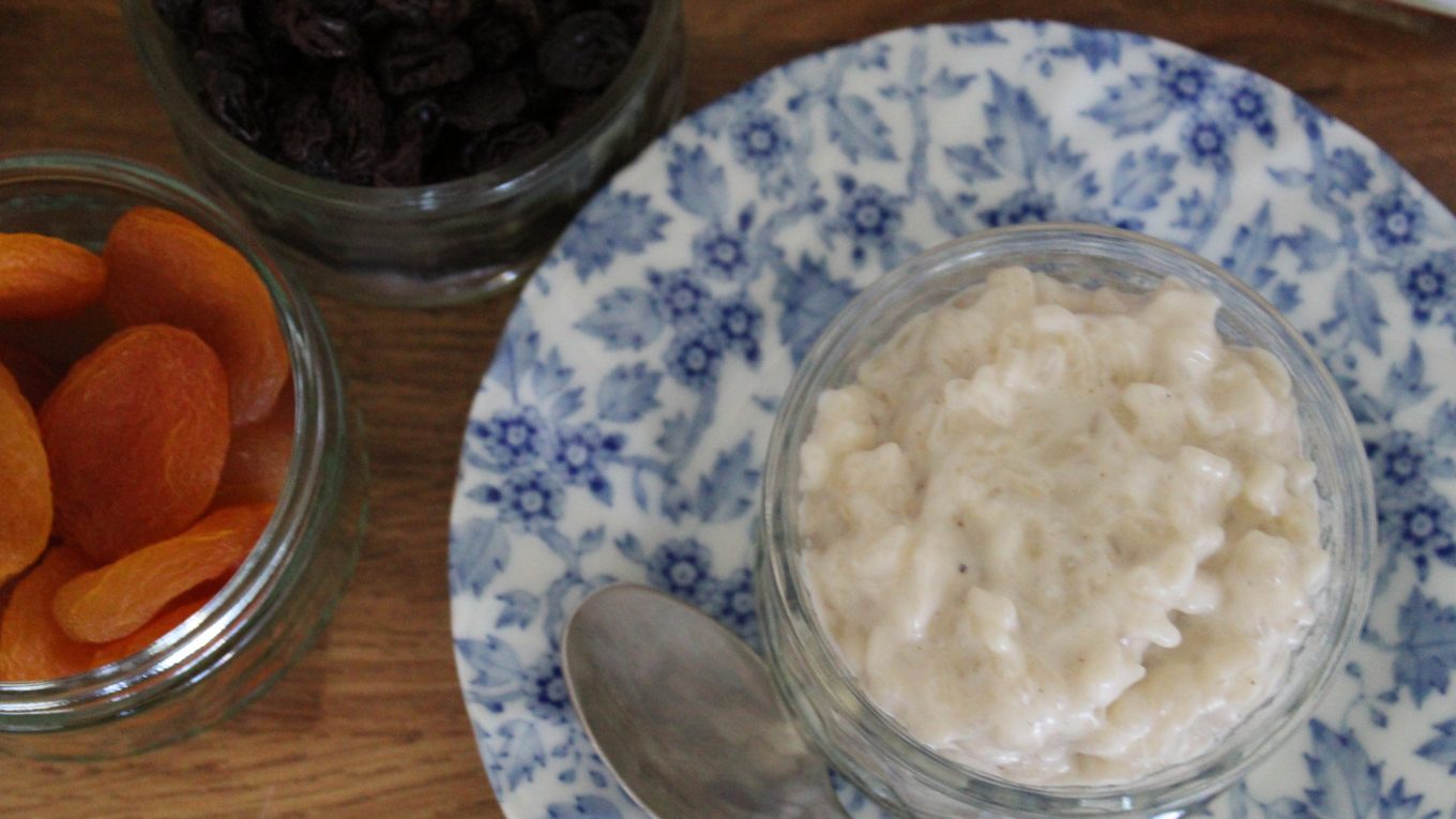 gluten and dairy free rice pudding