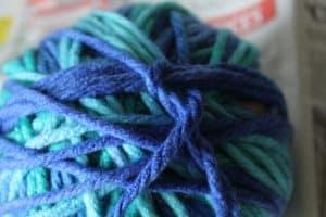 tuck in ends of wool