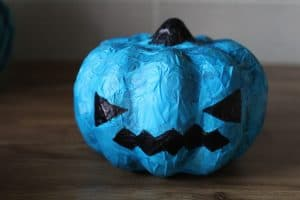 tissue paper teal pumpkin