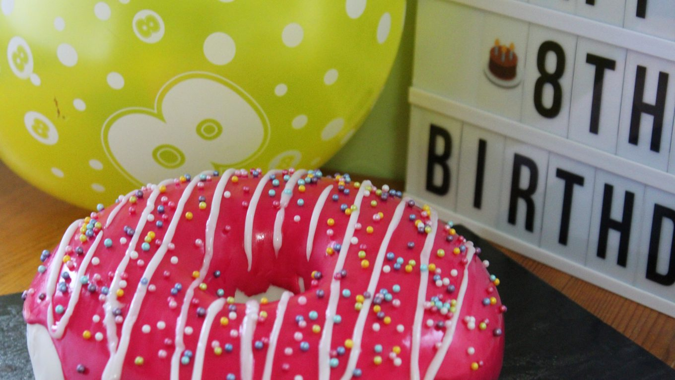 how to make dairy free doughnut birthday cake