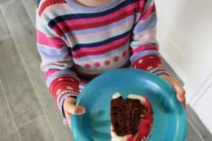 slice of doughnut cake