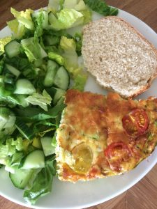 Low FODMAP Baked Omelette