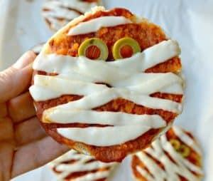 english muffin vegan pizza mummy