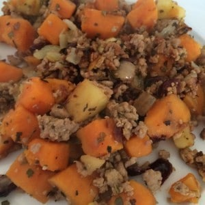 Turkey, Sage and Apple Hash