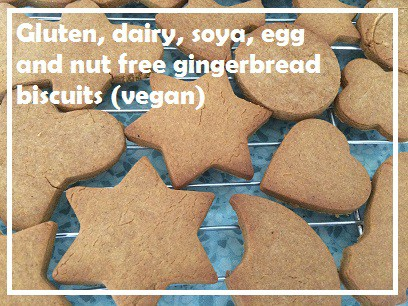 dairy free gingerbread biscuits