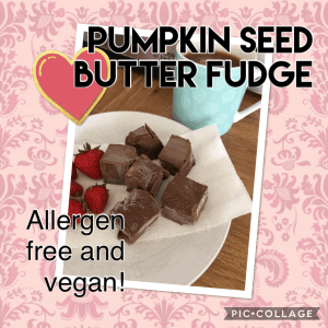 pumpkin seed butter freezer fudge