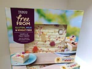Tesco free from vanilla tray bake