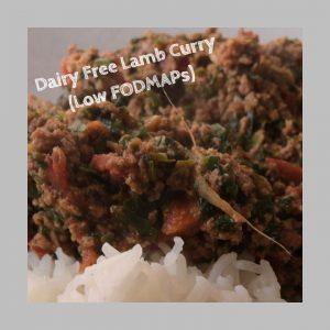 low fodmap lamb curry