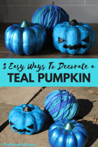 how to decorate a teal pumpkin