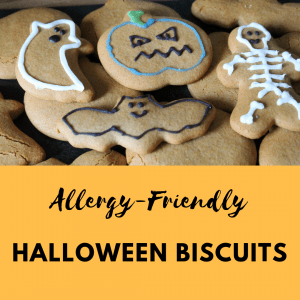 dairy and gluten free halloween biscuits