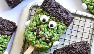 dairy free halloween rice crispie treats