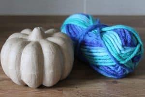 wool wrap teal pumpkin
