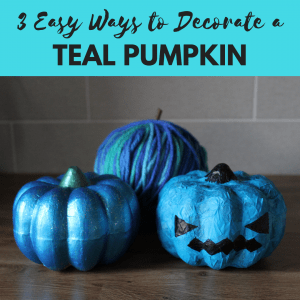 3 easy ways to decorate a teal pumpkin