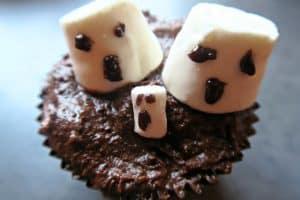 dairy free halloween ghost cupcake