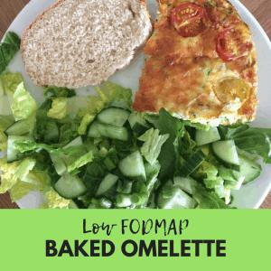 low fodmap baked omelette