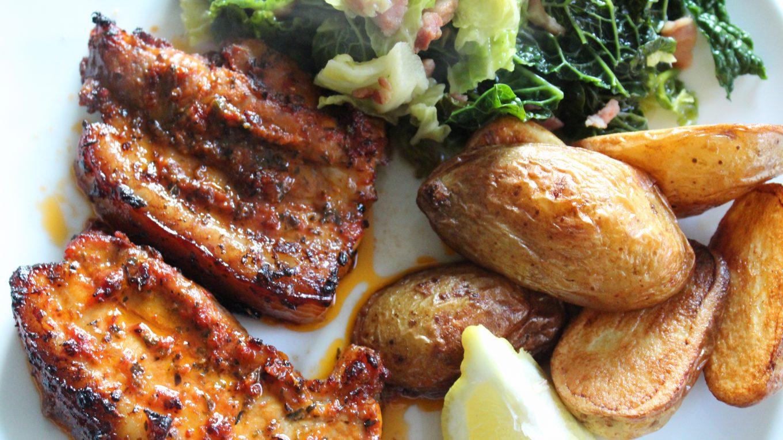 tuscan inspired pork belly
