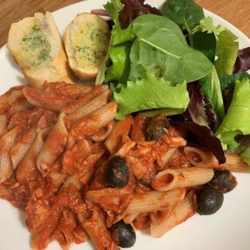 dairy free tuna tomato pasta