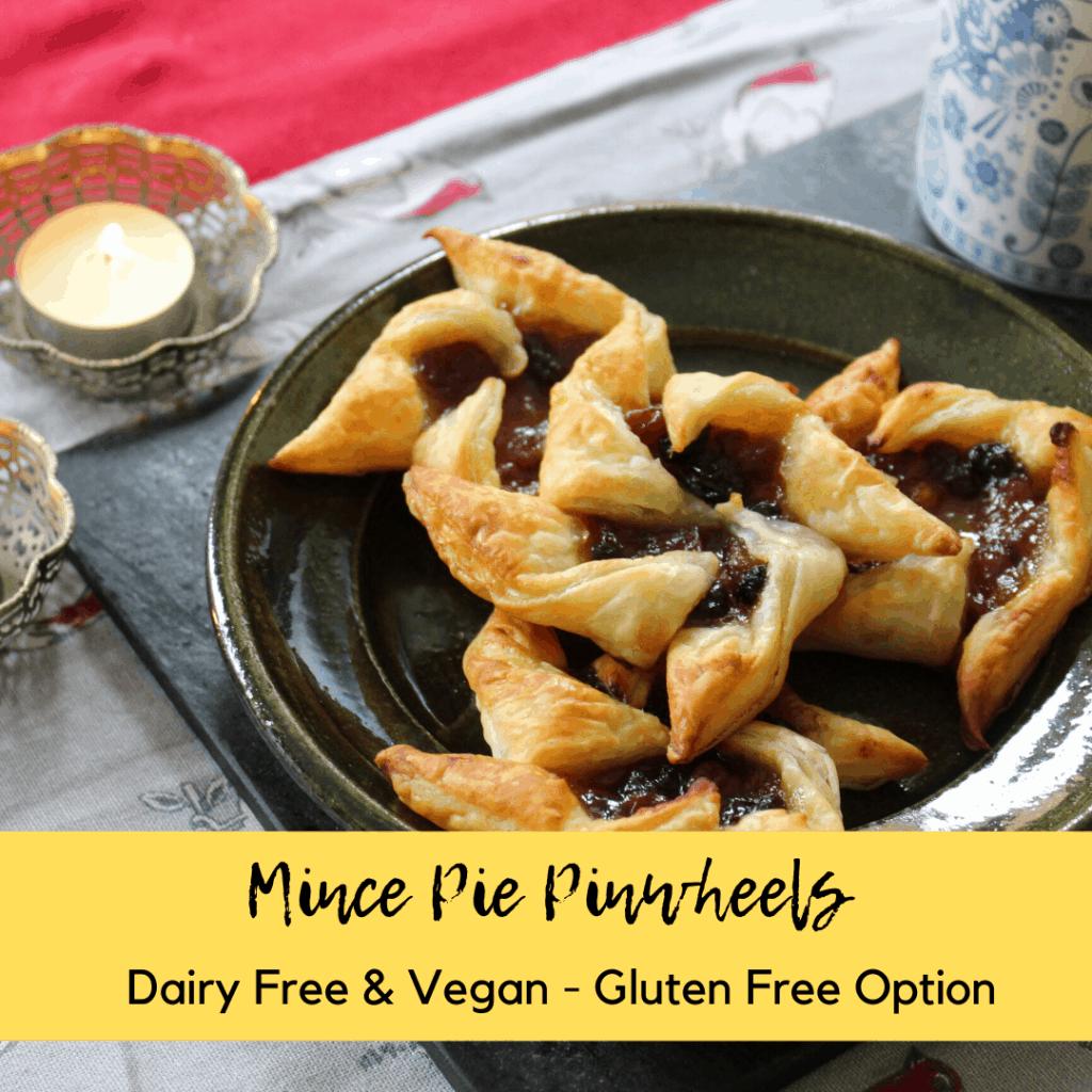 dairy free mince pie pinwheels