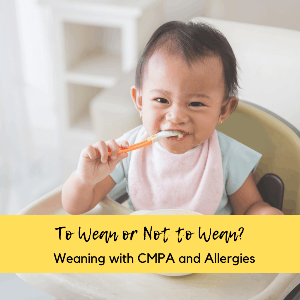 weaning with cmpa and allergies