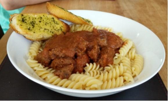 tomato free meatball pasta